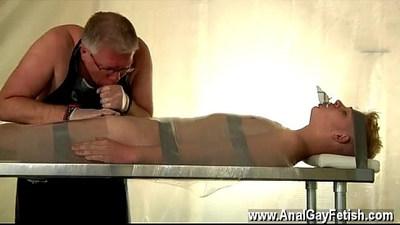 blonde gay  blowjob  bondage
